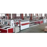Buy cheap Twin Conical Screw Wood Plastic Production Line For Crust Furniture Board from wholesalers
