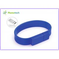 Buy cheap Silicone Bracelet Rubber Band Wristband USB Flash Drive 1 Year Guarante from wholesalers
