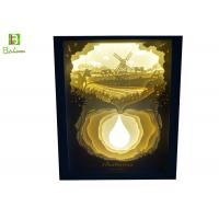 Buy cheap Pastoral Scenery 3D LED Light Box Shadow Retail Sculpture Lamp Direct Charge from wholesalers