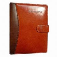 Buy cheap Bright Leather Notebook, A5 Size, Elegant and Vintage, Suitable for Office Use from wholesalers