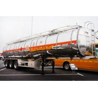 Buy cheap CIMC China  tri-axle Aluminum fuel tanker trailer truck for sale from wholesalers