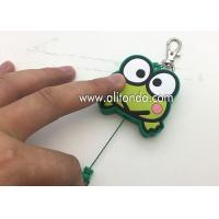 Wholesale Cartoon frog animal shape retractable pvc wrap badge reels custom with key chains from china suppliers