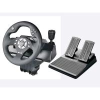 wired video game steering wheel car gaming racing wheel game controller for PS3, PS2, PC(Direct-X & X-INPUT), dual vibra Manufactures
