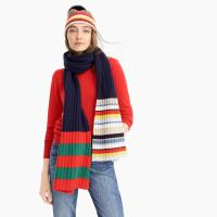 Buy cheap Colorful Stripe RIB Knitted Hat Scarf Gloves Set For Winter Wear Resistant from wholesalers