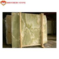 Buy cheap Light Color Green Onyx Marble Slab Custom Size For TV Background from wholesalers
