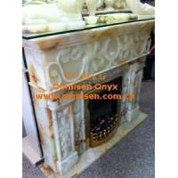 Buy cheap Onyx Marble Fireplace Mantel from wholesalers
