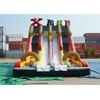 Buy cheap Ice Age Theme Inflatable Slide Rental Double Slide With Palm Tree / Inflatable Ice Age Slide from wholesalers