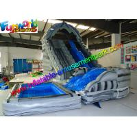Buy cheap Kids Inflatable Inflatable Corkscrew Water Slide Yellow For Business from wholesalers