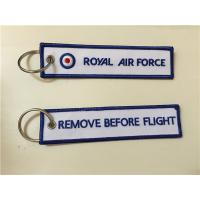 Royal Air Force Remove Before Flight Custom Embroidered Key Chain Key FOB Manufactures