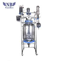 Buy cheap Double Glazing Pharmacy Glass Reactor AC Induction Motor High Temperature from wholesalers