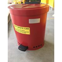 Buy cheap Laboratories Oily waste can, Industrial Fireproof Metal Waste Bin from wholesalers