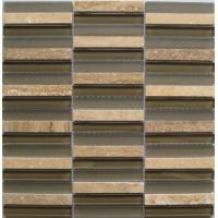 Buy cheap Strip Mixed Crystal Glass Stone Mosaic Tile For Exterior Decoration from wholesalers