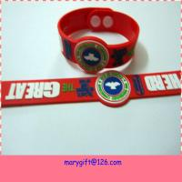 Buy cheap Soft Pvc 3D Logo bracelets wristbands With Embossed Logo with plastic buckle from wholesalers