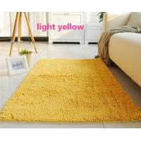 Buy cheap Yellow Living Room Handmade Tufted Polyester Chenille Microfiber Area Rug from wholesalers