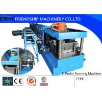 Buy cheap 40mm - 80mm C Steel Purlin C Z Purlin Roll Forming Machine With Hydraulic Station from wholesalers