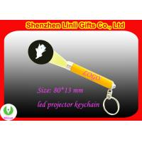 Silver ABS Custom Logo Led Light Projector Sparkle KeyChain for Lighting and Advertisement Manufactures