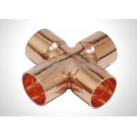 Buy cheap Copper Four Way Cross Refrigeration Pipe Fittings For Plumbing And HVAC System from wholesalers