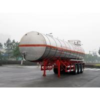Quality Stainless Steel Gas Tanker Truck Trailer For 39500L Propylene Oxide delivery for sale