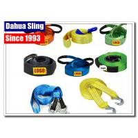 5cm X 4.5m Vehicle Recovery Strap With Hooks , 5 Ton Load Nylon Tow Strap For Car