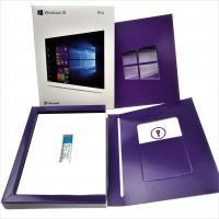 Buy cheap 100% Original 2019 Update License Microsoft Windows 10 Pro Key license Software 64 Bits Retail Box online activation from wholesalers