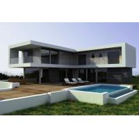 Steel Structural Small Prefab Homes Prefabricated Villa / Modern Simple Style Villa Manufactures