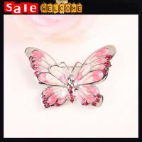 Buy cheap Enamel Butterfly Brooch Bouquet Collar for Women,18K Gold Crystal Christmas Brooches Pins from wholesalers