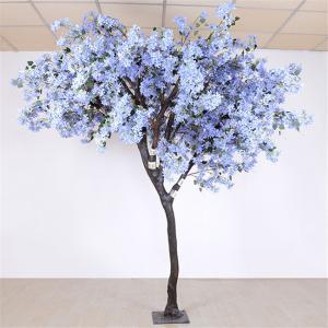 Wholesale Soft Artificial Flower Tree Jacaranda Wood Bule Color Sakura Tree Branch from china suppliers