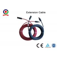 Buy cheap Excellent Flexibility 6mm Solar Panel Cable High Electrical Conductivity With  Connector from wholesalers