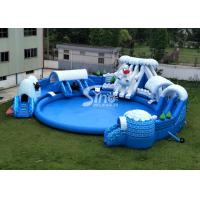 Buy cheap Snow N Ice World Giant Inflatable Water Park On Land With Big Inflatable Pool For Kids N Adults product
