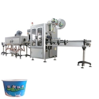 Buy cheap automatic shrink sleeve label machine with paper cups plastic cup coffee cup automatic tubs shrink sleeve labeling machi from wholesalers