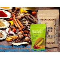 Buy cheap SIDE GUSSET COFFEE BAGS,STAND UP COFFEE BAGS,KRAFT PAPER COFFEE BAGS Foil Zip Lock Stand Up Food Pouches Bags with Notch from wholesalers