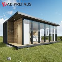 Buy cheap RAD Luxury Floating Wood Cladding Folding Container Prefabricated Homes from wholesalers