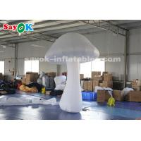 Buy cheap 3 Meter White Inflatable Mushroom with Air Blower for Theme Park Decoration from wholesalers