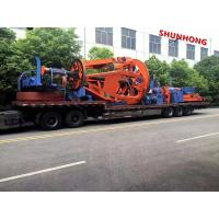 Buy cheap Cantilever Back Twisting 1.25-1.6 M 3 Bobbin Cable Winding Machine 50RPM Pneumatic Brake from wholesalers
