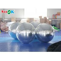 Buy cheap Sliver Giant Inflatable Balloon Mirror Ball Commercial Decoration from wholesalers