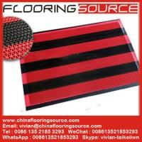 Buy cheap Vinyl Z web floor mat wet area non-slip drain water and scrape dirt door mat from wholesalers