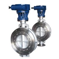 Buy cheap Bare stem  high temperature metal seat triple eccentric butterfly valve from wholesalers