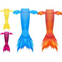 Wholesale Juku Mermaid Newest Design Side fins Orange Mermaid tail with small Frills for Girls and Women Swimwear from china suppliers
