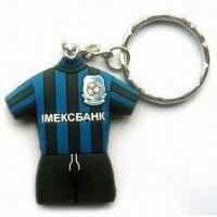 Wholesale Customized/Promotional Football Clothes PVC Keychain with Logo Printing on Both Sides from china suppliers