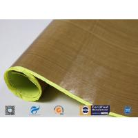 Buy cheap Heat Resistant PTFE Coated Fiberglass Fabric With Silicone Adhesiive from wholesalers