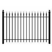 Buy cheap Fashionable Ornamental Iron Fence Parts Wrought Iron Components Powder Coated from wholesalers