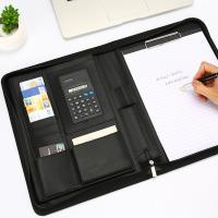 Buy cheap A4 Size Personalized Leather Padfolio Feel Comfortable With Pockets Clipboard Folder from wholesalers