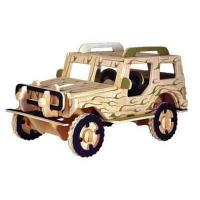 Wholesale Jeep DIY wooden toys vehicle from china suppliers