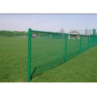Buy cheap Diamond Hole Green Wire Fencing , Black Cyclone Fence Easy Assembled from wholesalers