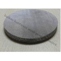 China Stainless Steel Wire Cloth , 0.5 Micron 316 Stainless Steel Wire Sintered  Filter on sale