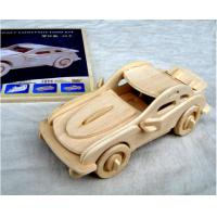 66803 mini wooden carved car model toy, 3D wooden puzzle car gift Manufactures