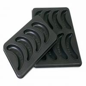 China 500*300 stainless steel Non-stick Banana-Shaped muffinpans Cake Baking Mold pan on sale
