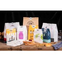 Buy cheap Bakery Kraft Paper Packaging Bags , Paper Tote Bag With Clear Window For Bread Toast from wholesalers