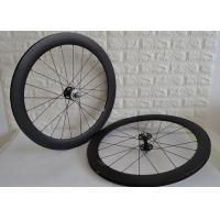 Buy cheap 700c Fixed Gear Carbon Track Wheelset 9mm Front Axle Single Speed Design from wholesalers