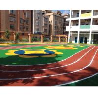 Buy cheap Spike Resistant Playground Floor Material For Children / Rubber RunningTrack from wholesalers
